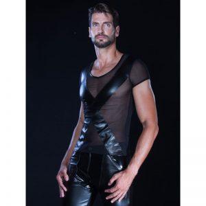 Half wetlook shirt van Patrice Catanzaro