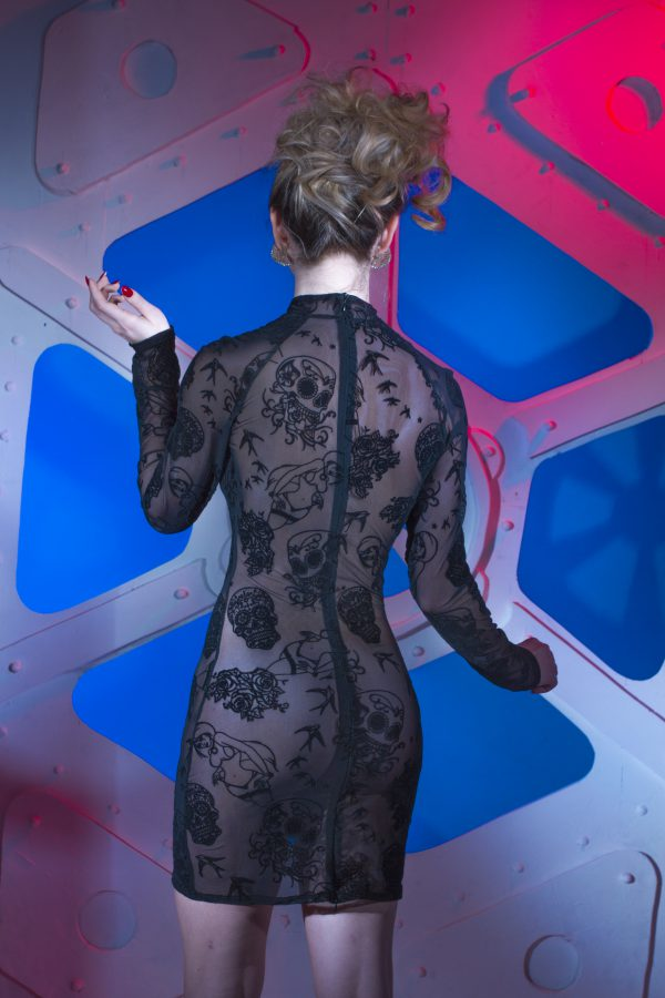 Transparant jurkje met tattoo print van Patrice Catanzaro