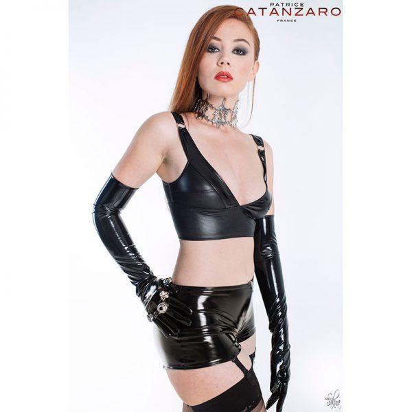 Lak / Wetlook topje Elisabeth van Patrice Catanzaro