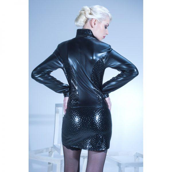 Wetlook jacket Livinia Bi-materiaal van patrice Catanzaro