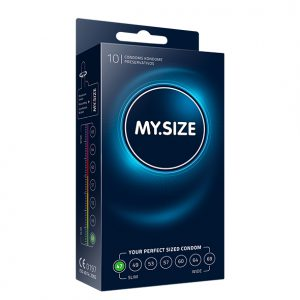 My Size Natural Latex Condom 47 Width 10 pcs