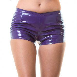 Korte zwarte lak hotpants - H1182 - Desireshop.nl - Honour Clothing