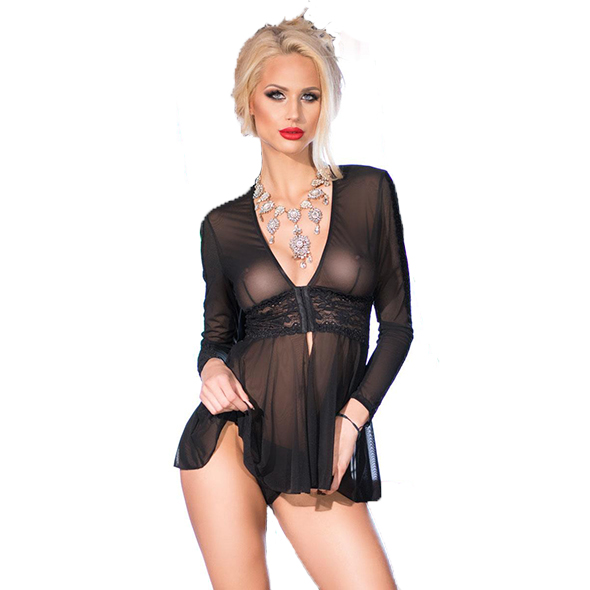 Sexy korte babydoll - CR 4135 - Chilirose - Desireshop - Alkmaar