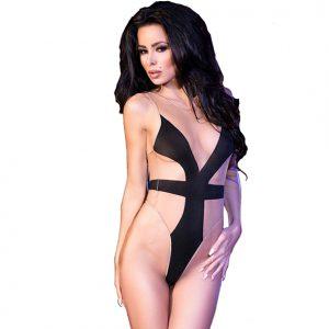 Huidkleurig Body - CR4103 - Kinky jurkjes - Bodystockings - Chilirose