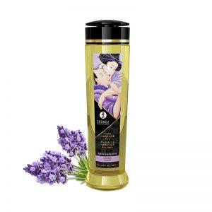 Shunga Massage Olie Sensatie Lavendel | Desireshop.nl