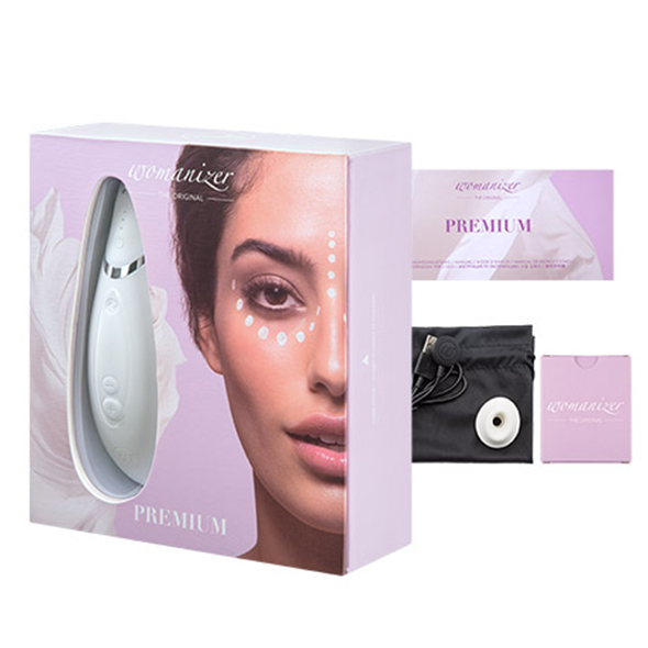 Womanizer Premium White Chrome € 189 - Desireshop.nl - Alkmaar