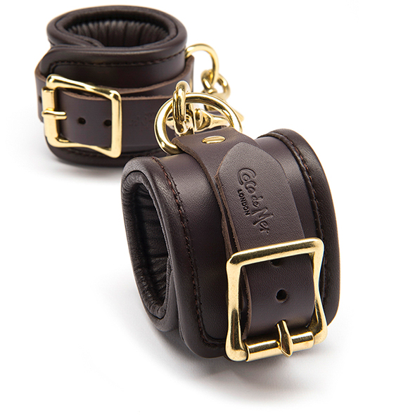 Coco de Mer Leather Wrist Cuffs L-XL - Desireshop.nl - Alkmaar