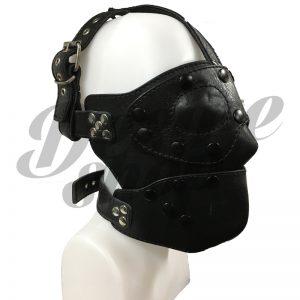 Afneembaar leren masker | Desireshop | Alkmaar | BDSM Artikelen kopen
