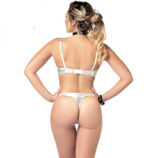 Annabelle open string Hologram | Party kleding kopen | Desireshop.nl