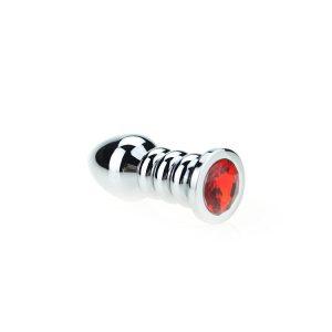 Geribbelde Buttplug Rood kopen | Desireshop.nl | Sexshop Alkmaar