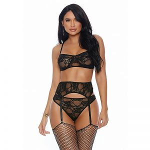 Lace Me Down driedelig BH set | Forplay lingerie | Desireshop.nl | Alkmaar