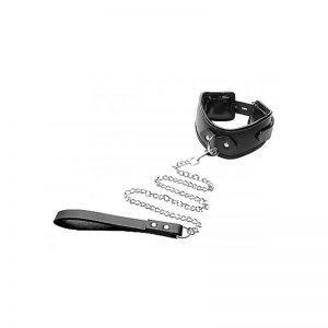 Gewatteerde halsband met riem | Desireshop.nl | Snel en voordelig