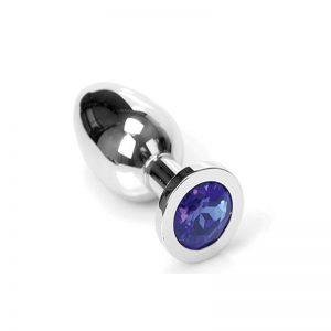 Jewel Buttplug Blue Large | Metalen Buttplug kopen | Desireshop.nl