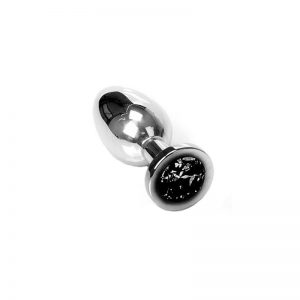 Jewel Buttplug Black Medium | Metalen Buttplug kopen | Desireshop.nl