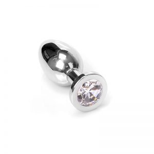 Jewel Buttplug Clear Medium | Metalen Buttplug kopen | Desireshop.nl