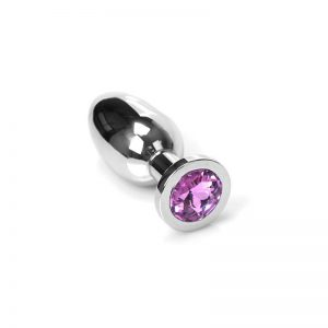 Jewel Buttplug Pink Medium | Metalen Buttplug kopen | Desireshop.nl
