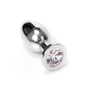Jewel Buttplug Clear Large | Metalen Buttplug kopen | Desireshop.nl