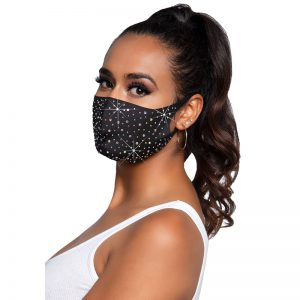 Naya Rhinestone Face Mask | Desireshop.nl | Alkmaar