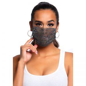 Harlow Rhinest.Face Mask Cover Black | Desireshop.nl | Alkmaar