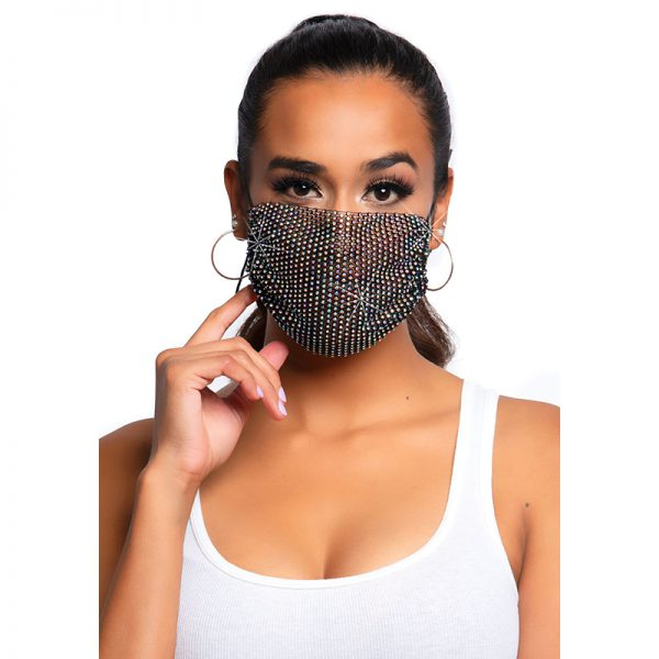 Harlow Rhinest.Face Mask Cover Black | Desireshop.nl | Alkmaar