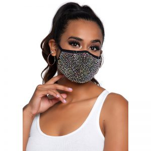 Zuri Rhinestone Face Mask | Desireshop.nl | Alkmaar