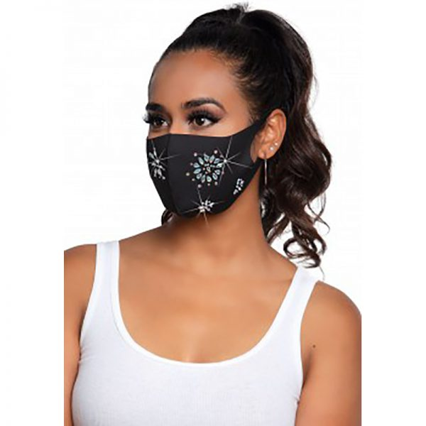 Fleur Rhinestone Face Mask | Desireshop.nl | Alkmaar